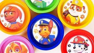 Paw Patrol Play Doh Surprise Eggs for Children Learn Colors