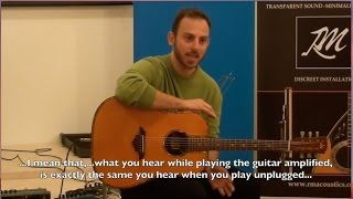 Live  demonstration of RMacoustic guitar pickup.