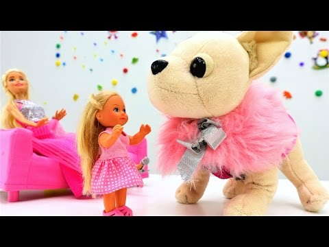 Ролевые игры для девочек. Барби и Штеффи: уход за Чичилав, как мама. Ютуб видео про куклы и пупсы (видео)