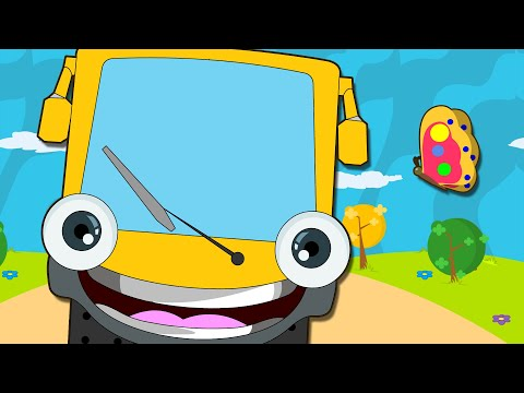 Wheels On The Bus Go Round And Round | Nursery Rhymes for Children | HooplaKidz