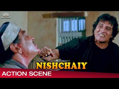 Vinod Khanna Action Scene From Nishchaiy निश्चय 1992,Hindi Drama Movie