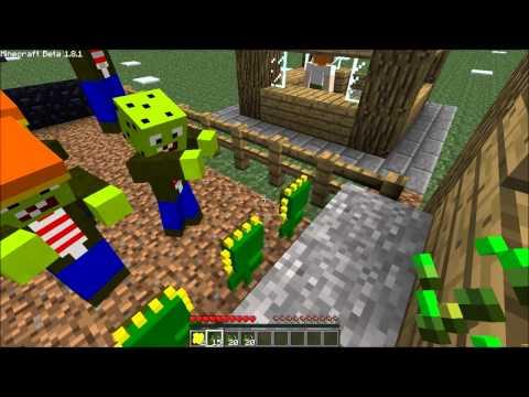 Minecraft Mod Review! Plants VS Zombies
