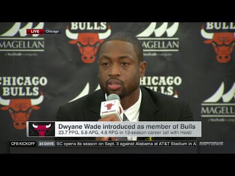 Dwyane Wade - Full Introductory Press Conference with Chicago Bulls
