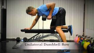 Exercise Index: Unilateral Dumbbell Row