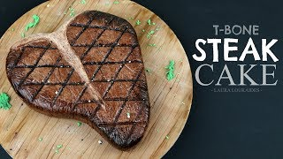 How to Make a Realistic T-bone Steak Cake - Laura Loukaides Video