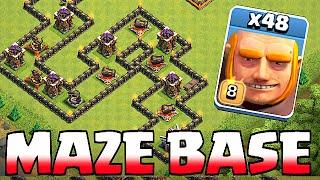 Video Clash Of Clans - GIANT MAZE BASE!! TROLL BASE!! (Speed build) MP3, 3GP, MP4, WEBM, AVI, FLV Oktober 2017