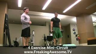 Intense 4 Exercises Circuit Training