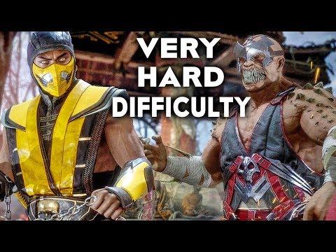 MORTAL KOMBAT 11 Gameplay Very Hard Difficulty Scorpion Vs Baraka