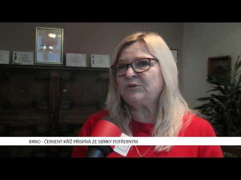 TV Brno 1: 11.1.2017 Červený kříž přispívá ze sbírky potřebným.