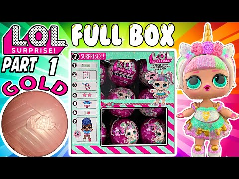 LOL SURPRISE SPARKLE SERIES FULL BOX OPENING Pt. 1 All Glitterati LOL Dolls!!   LOL Doll Videos
