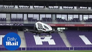 Driverless air taxi takes to the skies in first test flight