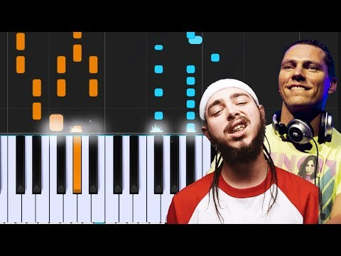 "Tiësto, Dzeko - ""Jackie Chan""  Ft. Post Malone Piano Tutorial - Chords - How To Play - Cover"