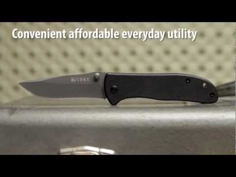 "CRKT Drifter Folding Knife w/ G-10 Handle (2.875"" Gray Plain) 6450K"