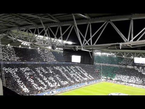 Juventus v Tottenham 2-2 Champions League anthem - 2017/18 - Round of 16