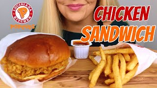 POPEYES CHICKEN SANDWICH AND FRENCH FRIES ASMR MUKBANG (NO TALKING)