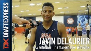 Javin Delaurier USA Basketball U18 Training Camp Interview