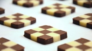 How To Shape Checkerboard Cookies - YouTube