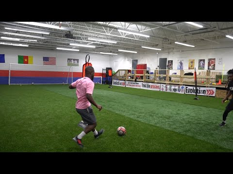 Training Session with Pro and college soccer players   Winter Training Ep. 4