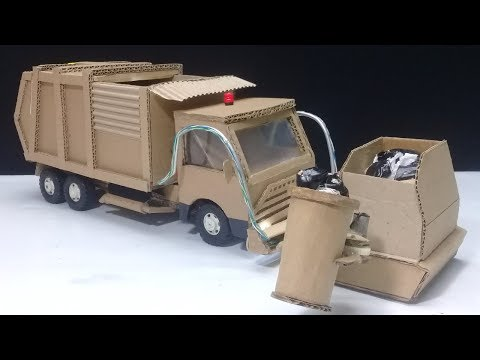How to make RC Garbage Truck - Amazing from Cardboard DIY (видео)