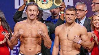 'GGG' Gennady Golovkin vs. Sergiy Derevyanchenko FULL WEIGH IN & FINAL FACE OFF | Matchroom Boxing