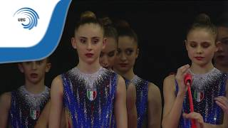 UEG Official – 33rd European Rhythmic Gymnastics Championships, Budapest (HUN), May 19-21, 2017. Junior Group Final, 10 clubs : 16.700 (Difficulty : 8.000, Execution : 8.700). Rank : 2.Follow the European Union of Gymnastics on its channels to stay up to date with their latest news!