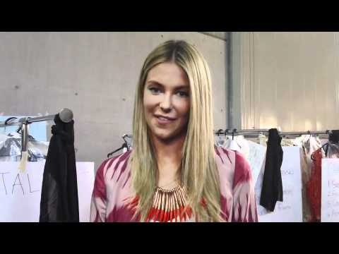 Backstage with Jennifer Hawkins for Myer's Spring/Summer 2011 Fashion Show