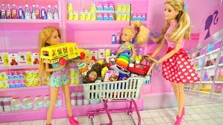 Video Barbie and Her sisters Go Shopping at Toy store & Supermarket Pasar boneka Barbie Irmãs Compras MP3, 3GP, MP4, WEBM, AVI, FLV Juli 2018