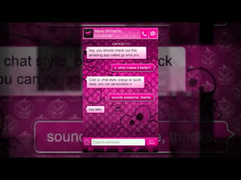 Video of Pink Halloween Go SMS Theme