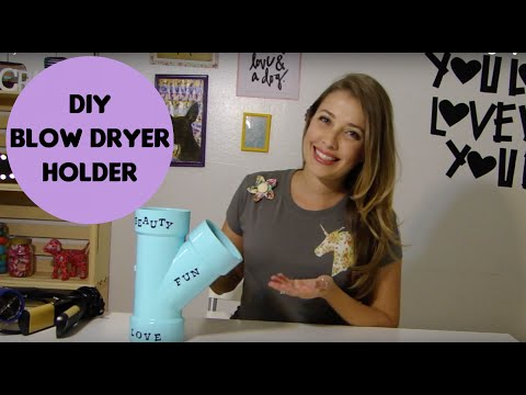 DIY - Blow Dryer Holder