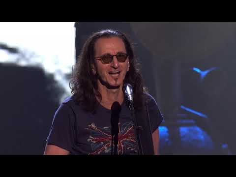 "Rush perform ""Spirit of Radio"" at the 2013 Rock & Roll Hall of Fame Induction Ceremony"
