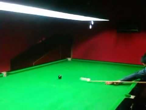 best snooker double  black ball again and again kashif ali   (cue snooker club sialkot)