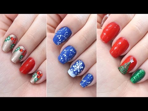 3 Decorações de unhas para o natal