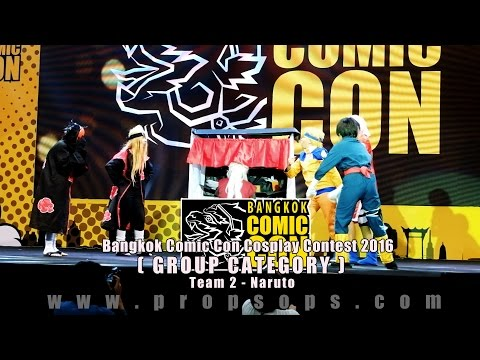 Bangkok Comic Con 2016 Cosplay Contest – Team 2 | Naruto