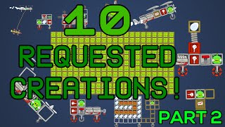 Another 10 requested creations, heheheIf you want to skip things :00:02 - Egg Launcher00:30 - Car that can fly, explode, and jump01:10 - [Mini ePIGsode] Somepiggy trapped inside metal box01:47 - Helicopter striker (yeah it is failed lol)02:17 - [Mini ePIGsode] King Pig's suprise02:59 - [Mini ePIGsode] King Pig punches the Thief down03:26 - (One of the) slowest vehicle in Bad Piggies04:04 - Sticky helicopter with big missile05:45 - [Mini ePIGsode] Piggy catching egg flee from him06:51 - Bigger nuke07:59 - Bonus fail clipMore writting if you want to read :http://smankusors.blogspot.com/2016/06/30062016-update-for-nearly-year-with-no.htmlCredits :Kevin MacLeod - HyperfunKevin MacLeod - HitmanKevin MacLeod - InvestigationsKevin MacLeod - Monkeys Spinning Monkeyshttp://incompetech.comLicensed under Creative Commons: By Attribution 3.0 Licensehttp://creativecommons.org/licenses/by/3.0/Don't forget to like and subscribe for more ePIG videos!!!