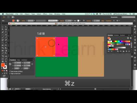 how to use the golden ratio of design 1.618 to build responsive design web comps (видео)