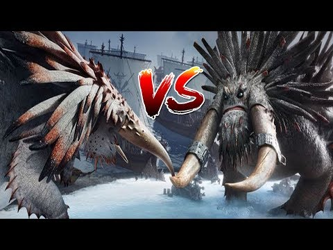 How to Train Your Dragon 2 -  Alpha Bewilderbeast Vs Drago's Bewilderbeast with healthbars