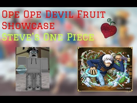 Ope Ope Devil Fruit Showcase | Steve's One Piece Roblox | ConFuseeed