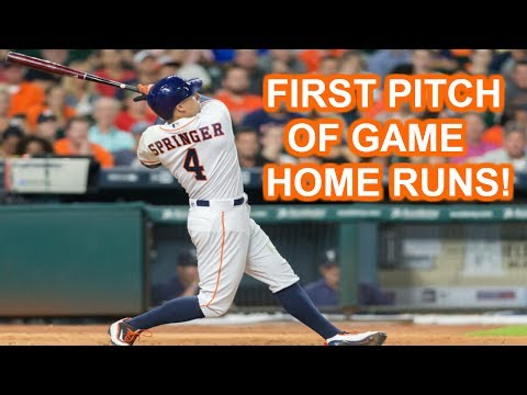 MLB | FIRST PITCH OF GAME HOME RUNS | 1080p HD
