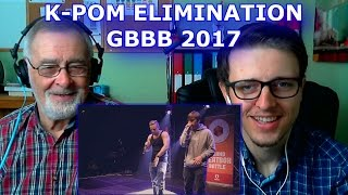 Please help me work towards my goal of 5,000 Subscribers!SUBSCRIBE HERE ► https://www.youtube.com/c/GrandpaReactsHey Guys, Grandpa Reacts coming at you with another Reaction video.Today we are going to be reacting to K-POM  Grand Beatbox TAG TEAM Battle 2017  Elimination Follow my Facebook page for updateshttps://www.facebook.com/GrandpaReacts/https://www.facebook.com/profile.php?id=100015993844810If you enjoyed the video please comment, like and subscribe for more videos to come.  Leave your video suggestions in a comment down below, or email them to me at - grandpareacts@gmail.comORIGINAL VIDEO - GO SUBSCRIBE TO THEIR CHANNELhttps://www.youtube.com/watch?v=DCkcmYkk9koBACKGROUND MUSIC -  GO SUBSCRIBE TO HIS CHANNELGiyo - Amazing artist, go and support his music.https://www.youtube.com/user/GiyoMusic/featuredChannel Art by Henry Brownhttps://www.youtube.com/channel/UCU9PIQOBnrjN2D8YNFoffOA/featured