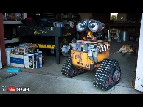 E. - The beloved Wall-E robot was just computer generated graphics in the Pixar movie, but fans have spent years trying to bring him to life. We visit Mike McMast...