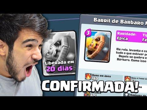 ATUALIZAÇÃO CONFIRMADA!! NOVA CARTA BARRIL DE BÁRBARO NO CLASH ROYALE
