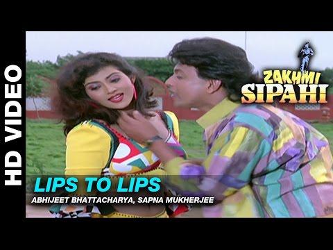 Lips To Lips - Zakhmi Sipahi | Abhijeet Bhattacharya, Sapna Mukherjee | Mithun Chakraborty