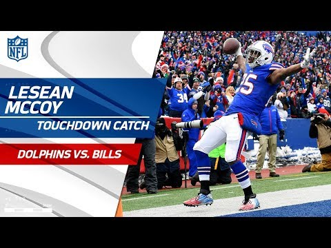 Video: LeSean McCoy Goes Over 10k Career Rushing Yards Then Catches TD! | Dolphins vs. Bills | NFL Wk 15