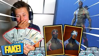 Little Brother Uses FAKE MONEY To Buy VBUCKS In Fortnite🤑💰 (Free Vbucks) | David Vlas