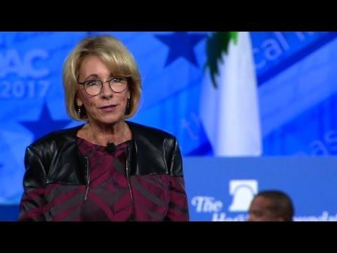 Betsy Devos' entire CPAC speech