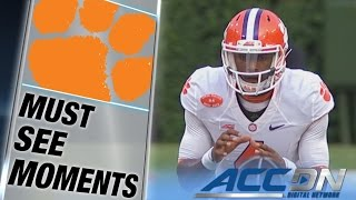 Clemson's Deshaun Watson Throws 1st Career TD Pass | ACC Must See Moment