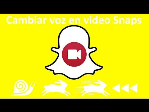 Como poner la voz de ardilla o voz rápida en Snapchat. (Android e iOS) (видео)