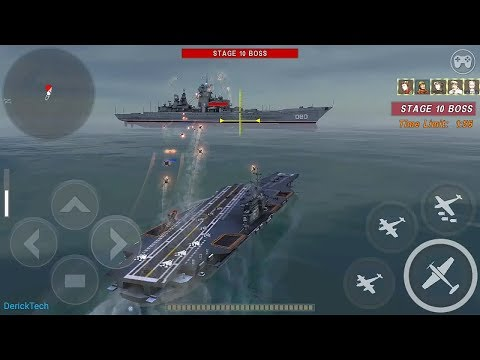 Warship Battle: KITTY HAWK SAVIOR Super Carrier In Boss Attack Stage 1 To 12.