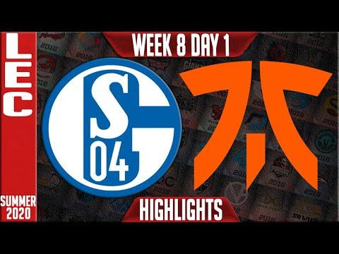 S04 vs FNC Highlights | LEC Summer 2020 W8D1 | Schalke 04 vs Fnatic