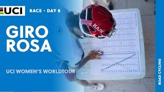 Watch the full highlights of stage 8 from the Giro Rosa, part of the 2017 UCI Women's WorldTour.  Read more at: http://www.uci.ch/road/ucievents/2017-road-uci-women%E2%80%99s-worldtour/132712217/   Follow us on Twitter @UCI_WWT and #UCIWWT